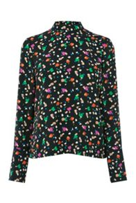 Warehouse Geo Party Print Top