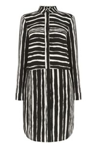 Warehouse Torn Stripe Shirt Dress