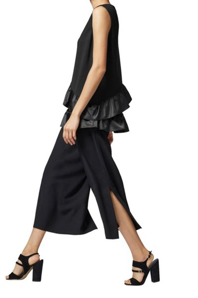 Warehouse Satin Asymmetric Ponte Top
