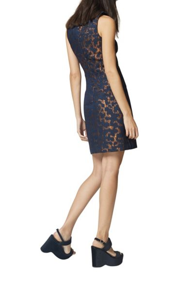 Warehouse Camo Animal Jacquard Dress