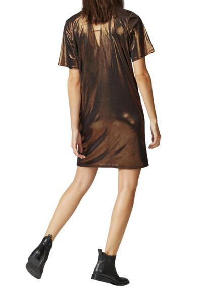 Warehouse Lamé Tee Dress