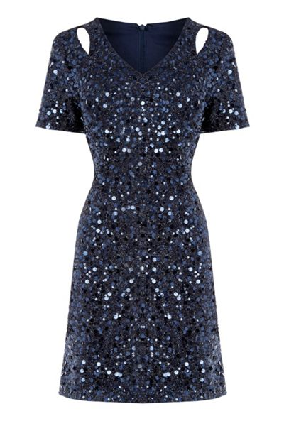 Warehouse Sequin Flappy Dress
