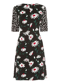 Pop Daisy Spot Mix Dress
