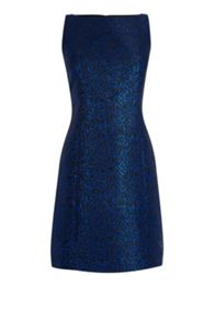 Warehouse Disco Leopard Jacquard Dress