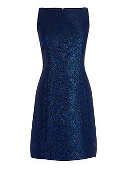 Disco Leopard Jacquard Dress
