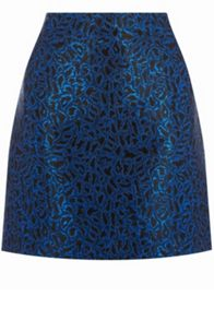 Warehouse Disco Leopard Jacquard Skirt