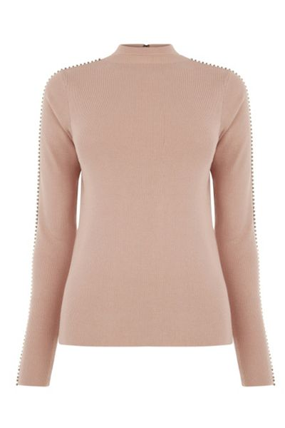 Warehouse Embellished Sleeve Jumper