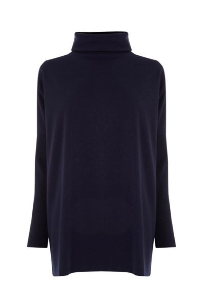Warehouse Rib Detail Roll Neck Top