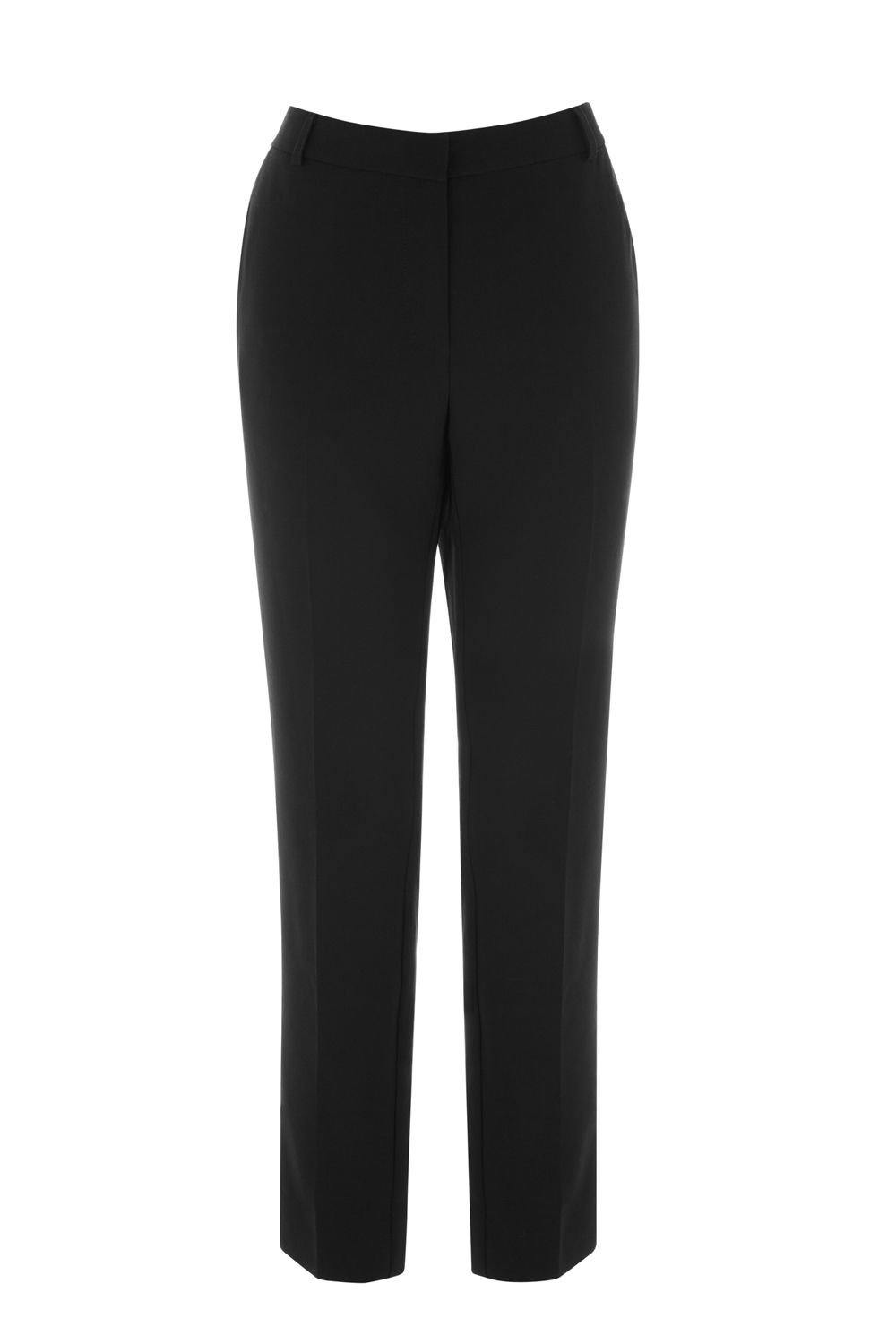 Warehouse Slim Leg Trousers, Black