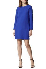 Warehouse Long Sleeve Shift Dress