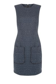 Warehouse Lupita Tweed Shift Dress