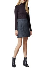 Warehouse Lupita Tweed Pelmet Skirt