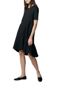 Warehouse Flippy Hem Ponte Dress