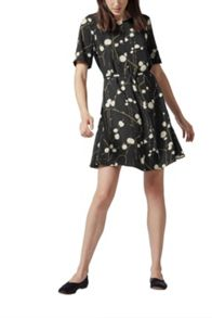 Warehouse Fire Fly Print Dress
