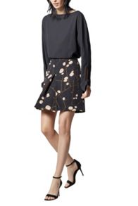 Warehouse Fire Fly Print Skirt