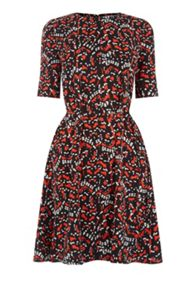 Warehouse Tiger Moth Flippy Dress