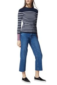 Warehouse Mini Stripe Crew Jumper