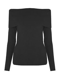 Deep Bardot Jumper