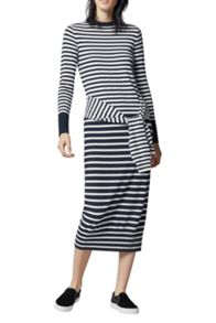 Warehouse Stripe Tie Waist Dress