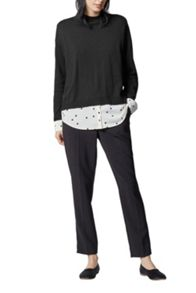 Warehouse Split Back Dotty Hybrid Jumper