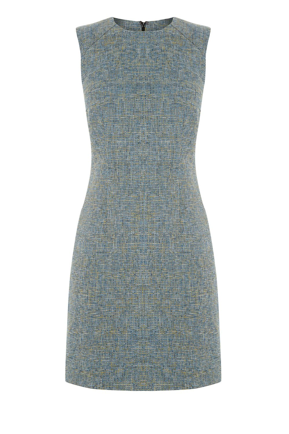 Warehouse Tweed Dress Yellow