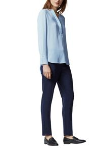 Warehouse Tab Placket Blouse