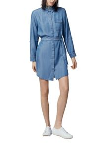 Warehouse Step Hem Utility Shirt Dress