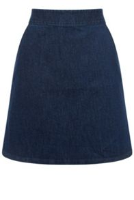 Warehouse Denim A Line Skirt