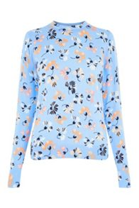 Warehouse Dandy Flower Print Jumper