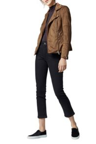 Warehouse Suedette Biker Jacket