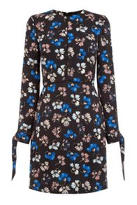 Warehouse Dandy Flower Skater Dress