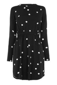 Warehouse Spot Print T-Shirt Dress