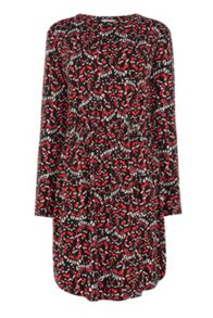 Warehouse Moth Print T-Shirt Dress