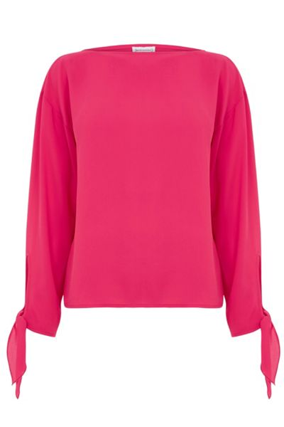 Warehouse Tie Sleeve Top