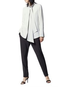 Warehouse Colourblock Tie Neck Blouse