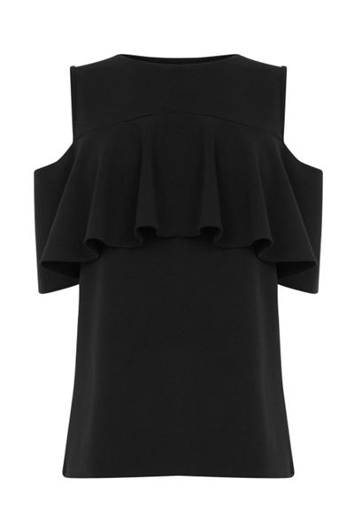 Warehouse Crepe Frill Top