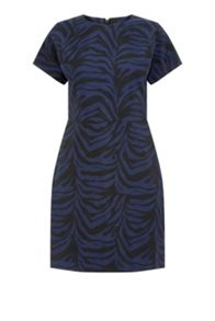 Warehouse Zebra Jacquard Dress