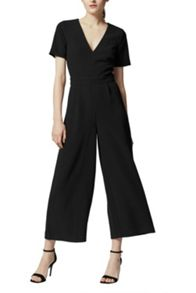 Warehouse V Neck Jumpsuit