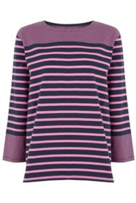 Warehouse Engineered Stripe Top