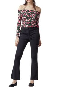 Warehouse Cherry Blossom Bardot Top