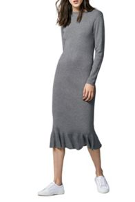 Warehouse Frill Hem Knit Dress
