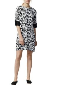 Warehouse Brushed Floral Shift Dress