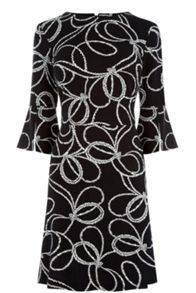 Warehouse Rope Print Ponte Dress