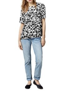 Warehouse Brushed Floral T-Shirt