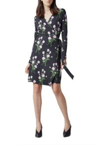 Warehouse English Rose Wrap Dress
