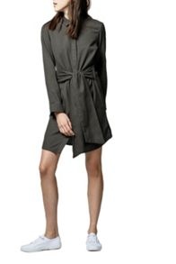 Warehouse Belted Cotton Shirt Dress