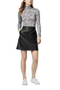 Warehouse Faux Leather Core Pelmet Skirt