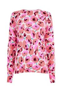 Warehouse Poppy Print Jumper