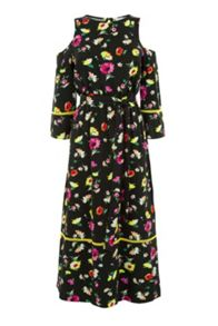 Warehouse Woodstock Floral Midi Dress