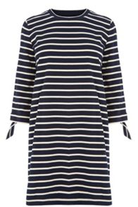 Warehouse Tie Cuff Stripe Dress